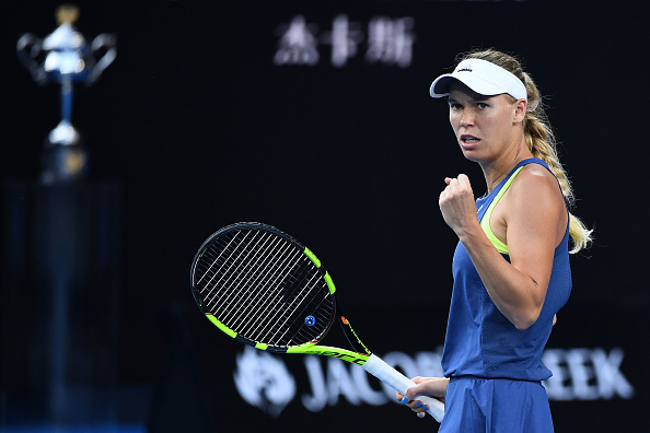 Caroline Wozniacki powers herself to a huge 5-2 lead within a blink of an eye | Photo: Clive Brunskill/Getty Images AsiaPac