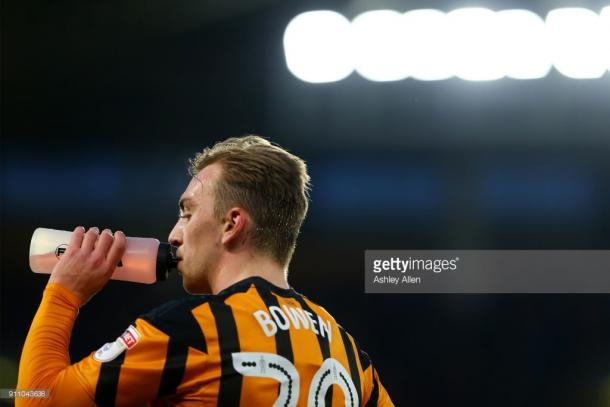 Jarrod Bowen was the standout performer for the Tigers against Forest. (picture: Getty Images / Ashley Allen)