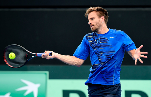 Peter Gojowczyk on Davis Cup duty earlier this month (Photo: Bradley Kanaris/Getty Images)