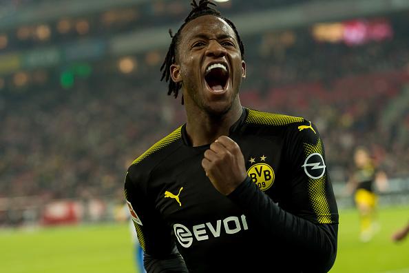 Batshuayi teve grande atuação em seu jogo de estreia pelo Dortmund (Foto: TF-Images via Getty Images)