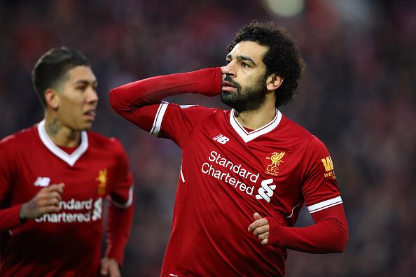 Salah se tornou o jogador do Liverpool mais rápido a marcar 20 gols na Premier League (Foto: Clive Brunskill / Getty Images)