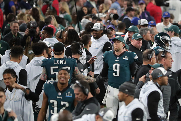 De backup quarterback para MVP do Super Bowl: Nick Foles se tornou herói improvável durante os playoffs | Foto: Streeter Lecka via Getty