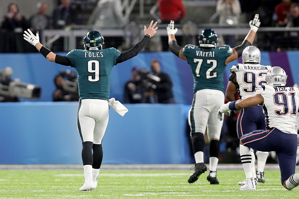 Inspirado, Foles conseguiu liderar o ataque dos Eagles a boas campanhas ofensivas no Super Bowl | Foto: Patrick Smith via Getty
