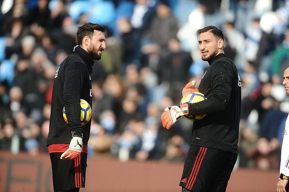 Irmãos Donnarumma são os únicos jogadores do Milan patrocinados pela Puma (Foto: Mario Carlini/Iguana Press/Getty Images)