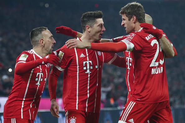 Bayern ficou em posição confortável para avançar às quartas de final (Foto: Alex Grimm/Bongarts/Getty Images)