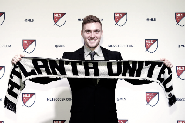 Julian Gressel at the MLS SuperDraft. | Photo: Andy Mead/YCJ/Icon Sportswire