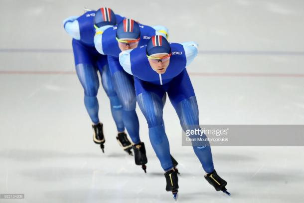 The Norwegian trio on their way to pursuit gold