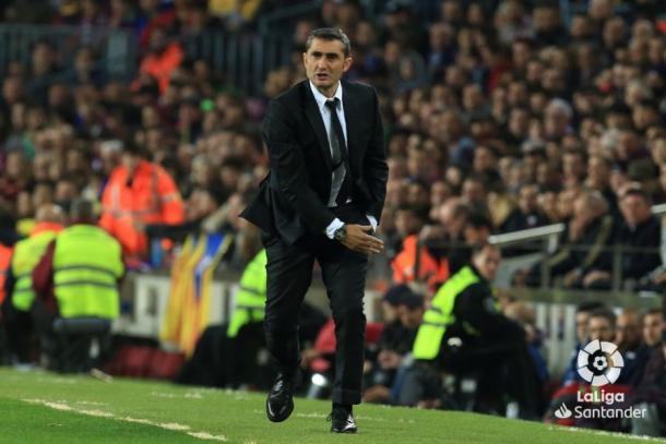 Valverde dando instrucciones desde la banda / Foto: LaLiga