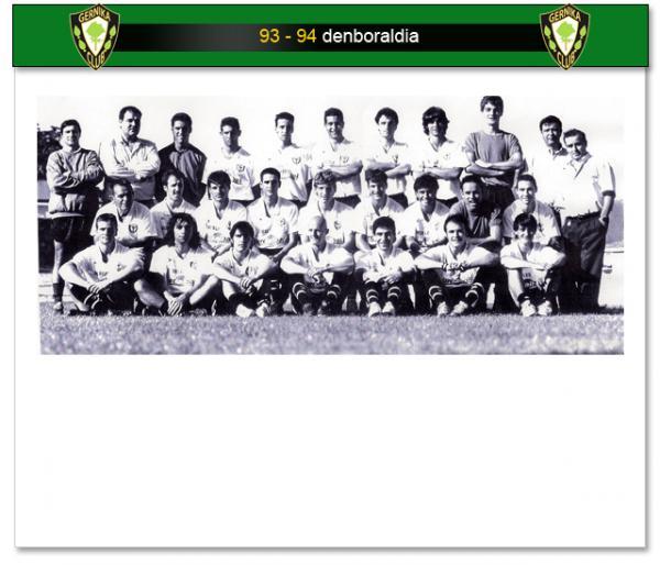 Plantilla del Gernika en la 93/94 (fuente SD Gernika)