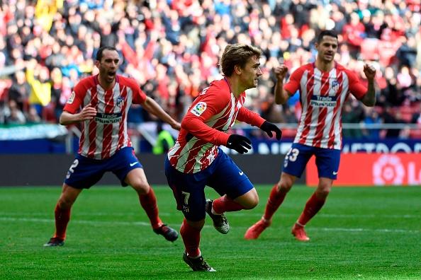 Momento do gol de Griezmann | Foto: Pierre-Philippe Marcou/AFP