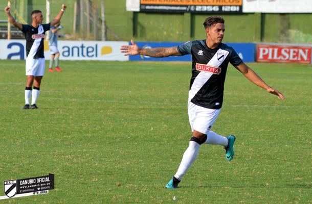 Terans, goleador de La Franja Foto: Danubio FC