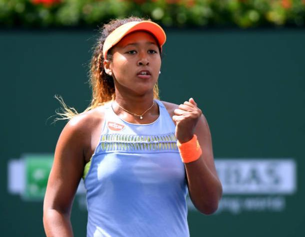 Naomi Osaka during her Indian Wells final victory against Daria Kasatkina (Getty Images/Harry How)
