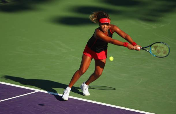 Osaka picked up her seventh straight WTA Tour victory in her first match in Miami (Getty/Clive Brunskill)