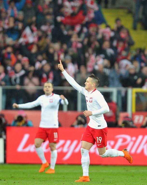 Zielinski con Polonia. Foto: Getty Images