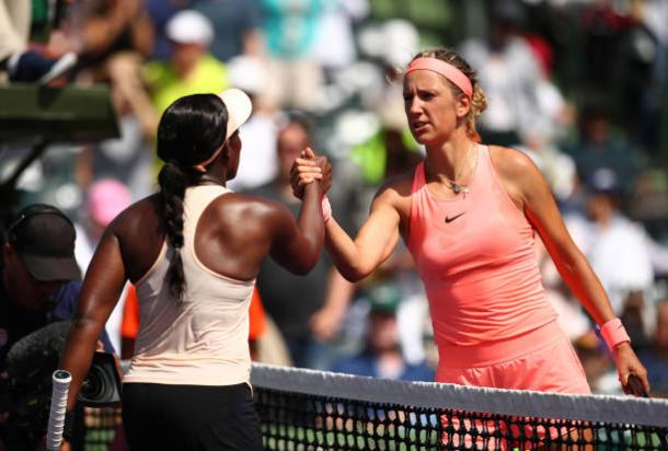 Stephens and Azarenka last played in Miami earlier this year, with the American winning in three sets (Getty Images/Julian Finney)