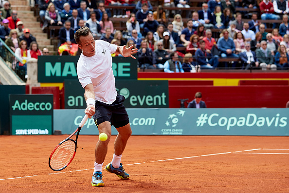 Philipp Kohlschreiber's forehand went AWOL during the match as he failed to find the rhythm in his game   Photo: NurPhoto via Getty Images Sport
