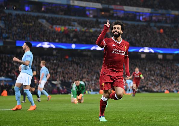 Salah e companhia foram responsáveis pela eliminação do City da Champions (Foto: Laurence Griffiths/Getty Images)