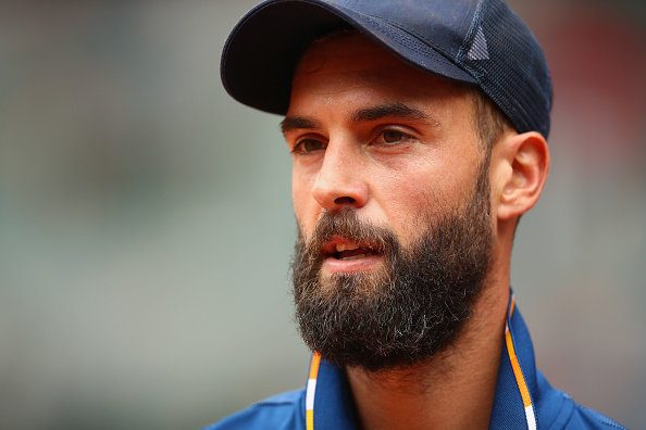 Benoit Paire reacts to winning a point (Photo: Clive Brunskill/Getty Images)