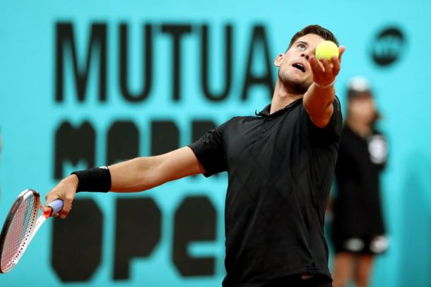 Dominic Thiem getting ready to serve (Photo: Europa Press)