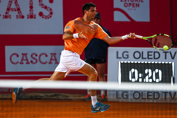 Federico Delbonis in action at the Estoril Open (Photo: Carlos Rodrigue/Getty Images)