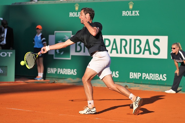 Richard Gasquet plays a forehand shot (Photo: Laurent Lairys/Getty Images)