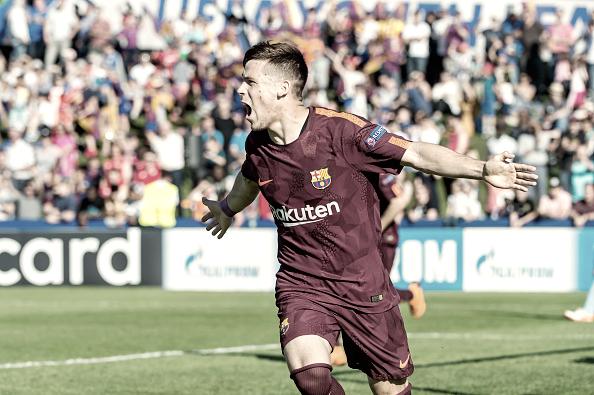 Carles Pérez en las semifinales de la UEFA Youth League   Getty Images
