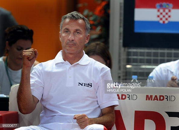 Goran Prpic during his time as Croatian Davis Cup coach/Photo: Hrvoje Polan/Getty Images