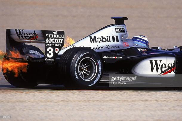 The ice cool Hakkinen's couldn't cool his McLaren down in 2001. | Photo: Getty Images/Clive Mason