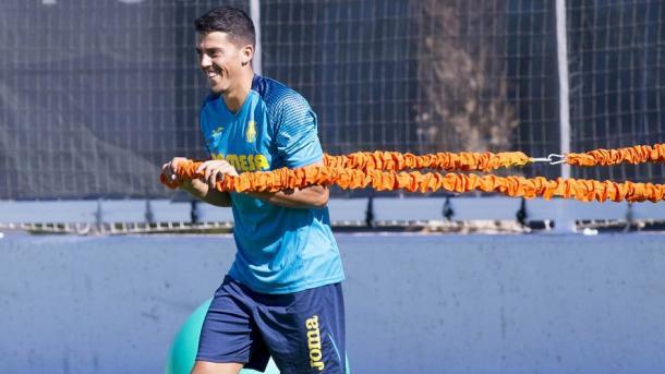 Fornals durante un entrenamiento   Foto: Villarrealcf.es