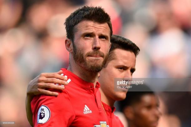 Michael Carrick made his final United appearance against Watford. (picture: Getty Images / Oli Scarff)
