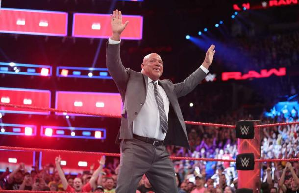 Kurt Angle is occupying a non wrestling capacity role for the time being (image: givemesport)