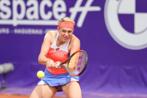 Anastasia Pavlyuchenkova in action at Strasbourg | Photo: NurPhoto via Getty Images