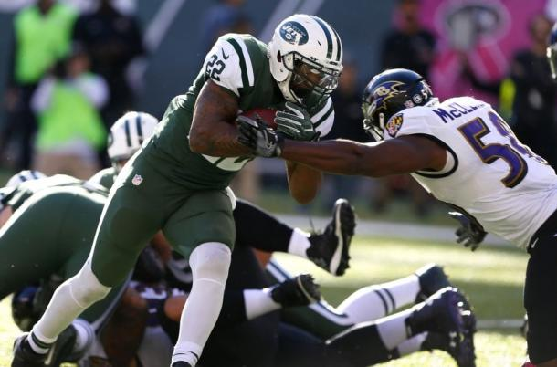 Matt Forte rushes for a touchdown in Week 7 against the Ravens (Photo: Noah K. Murray/ USA TODAY Sports)