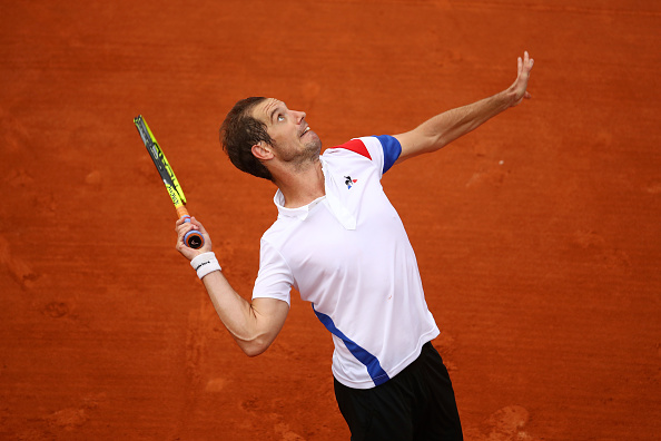 Richard Gasquet plays a serve (Photo: Cameron Spencer/Getty Images)