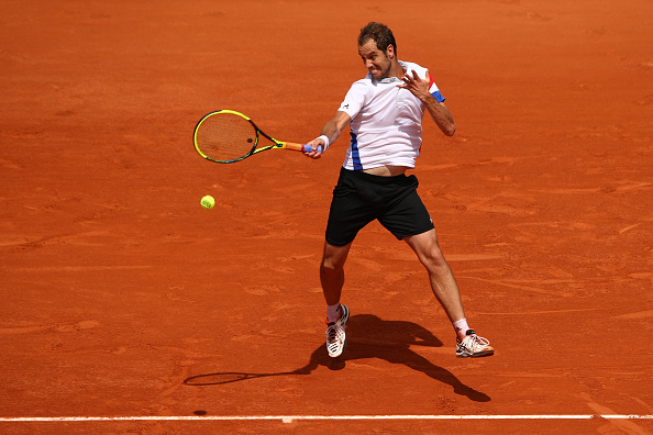 Richard Gasquet strikes a forehand (Photo: Cameron Spencer/Getty Images)