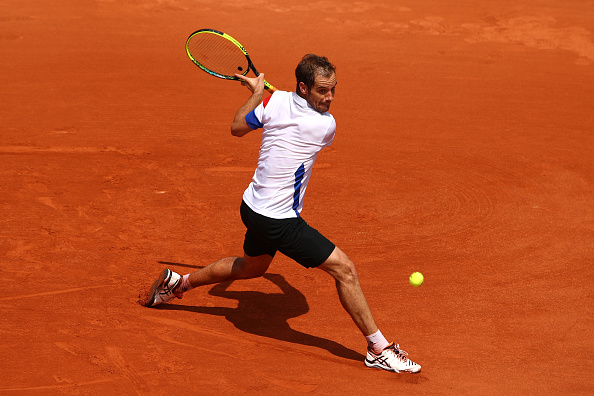 Richard Gasquet striking his famous backhand shot (Photo: Cameron Spencer/Getty Images)