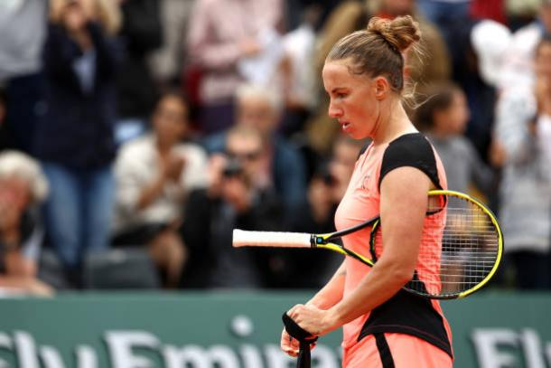 Kuznetsova fell in the first round in what was her 16th appearance at the French Open (Getty/Cameron Spencer)