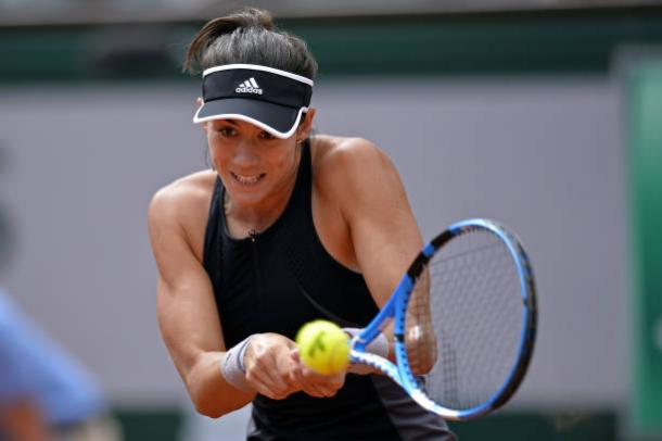 Muguruza in action during the match (Getty/Aurelien Meunier)