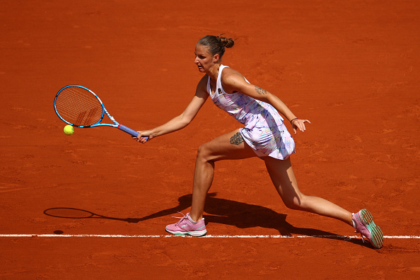 Karolina Pliskova's first-serve percentage was decent but she was not able to back it up | Photo: Cameron Spencer/Getty Images Europe