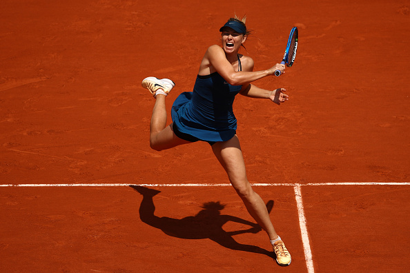 Maria Sharapova's groundstrokes were on fire today | Photo: Cameron Spencer/Getty Images Europe