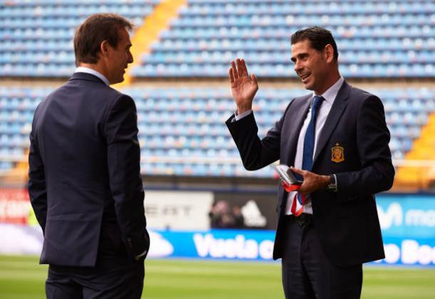 Hierro (D), novo técnico da Seleção da Espanha