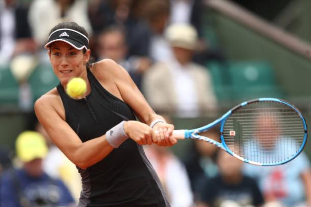 Muguruza was in complete control as she reached her second French Open semifinal (Getty/Cameron Spencer)