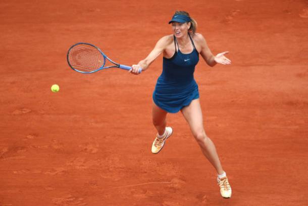 Sharapova never really got going in her quarterfinal clash (Getty/Clive Brunskill)