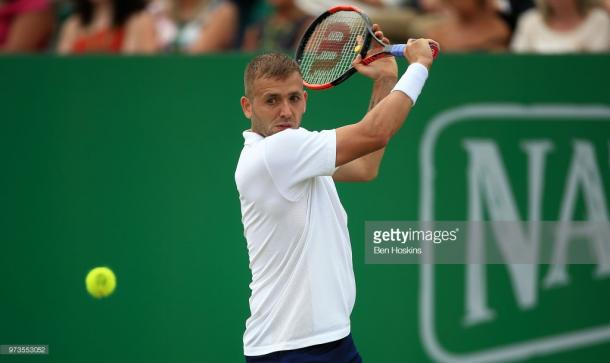 Dan Evans has secured a place in the semi-finals of the Nature Valley Open. (picture: Getty Images / Ben Hoskins)