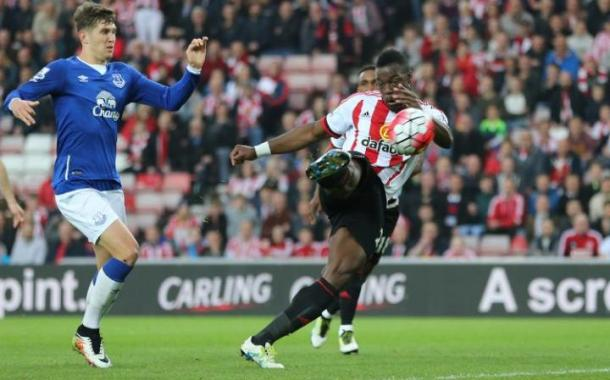 Kone netted his first two goals of his Sunderland career against Everton (Photo: Reuters)