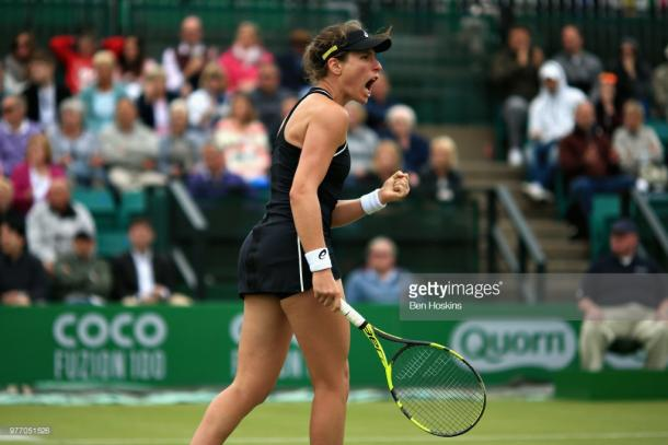 Johanna Konta responded in the second set. (picture: Getty Images / Ben Hoskins)