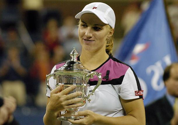 Kuznetsova won her first Grand Slam title at the US Open 13 years ago (Getty/Al Messerschmidt)