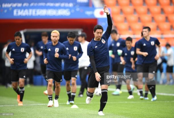 Japón entrenando en el Estadio Central | Foto: Getty Images