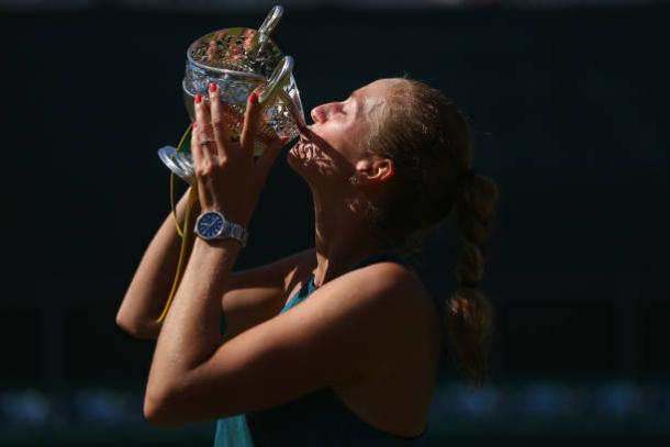 Petra Kvitova defended her title in Birmingham just last week (Getty/Jordan Mansfield)