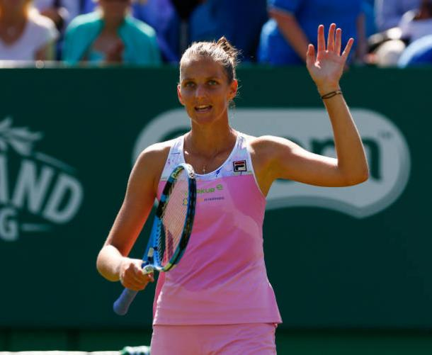 Pliskova has never thrived at Wimbledon but is generally a great grass court player (Action Plus/Hongbo Chen)